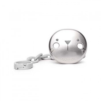 Suavinex Prende-Chupeta PREMIUM Cinzento Metalizado
