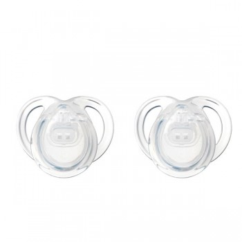 Tommee Tippee 2 Chupetas 0-6M Any Time Transparente
