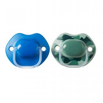 Tommee Tippee 2 Chupetas 6-18M Urban Azul e Verde
