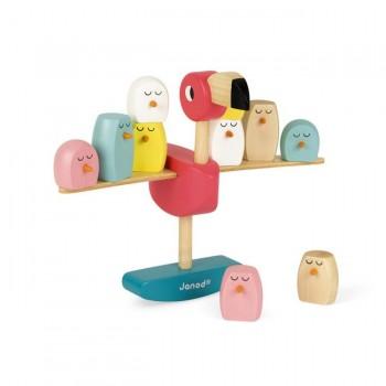 Janod Jogo de Equilíbrio Flamingo +3 Anos J08230