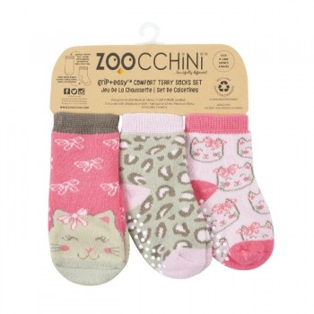 Zoocchini Set 3 Meias Gato Kallie 0-24M 11813