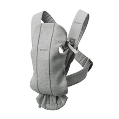 BabyBjörn Porta-Bebé Mini Cinza Claro Jersey 3D 021072