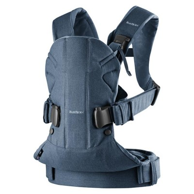 BabyBjörn Porta-Bebé Novo ONE Denim Midnight Blue Algodão 98051