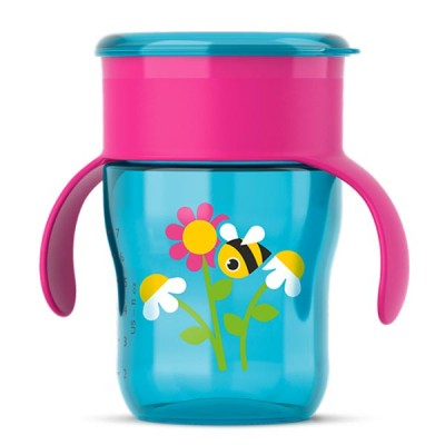 Copo Crescimento Magic Cup Azul e Rosa 260ML Avent SCF782/20