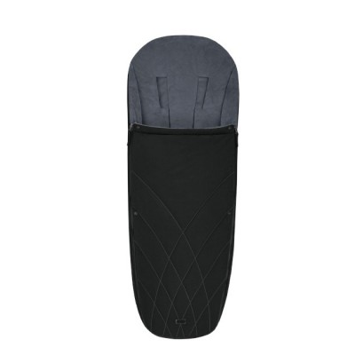 Cybex Saco Footmuff Platinum Deep Black