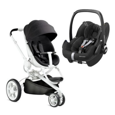 Duo Quinny Moodd Black Irony + Bébé Confort Pebble Pro Essential Black
