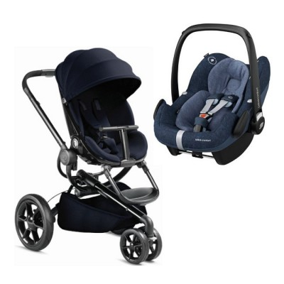Duo Quinny Moodd Midnight Blue + Bébé Confort Pebble Pro Nomad Blue