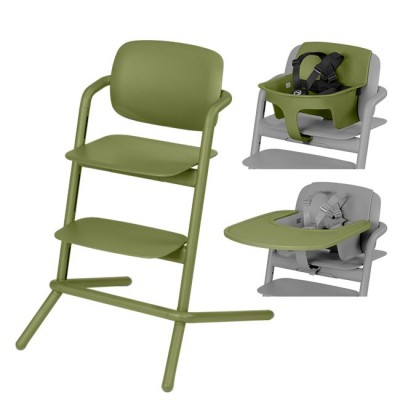 Cybex Pack Lemo Chair Outback Green