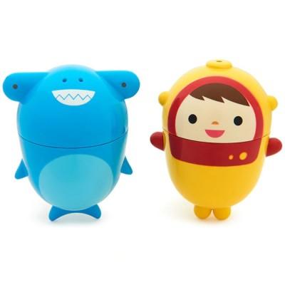Munchkin 2 Brinquedos Banho CleanSqueeze™ Mergulhador e Tubarão 011203