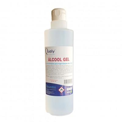 Qualy Álcool Gel 500ml para Higienização das Mãos com Tampa Flip Top