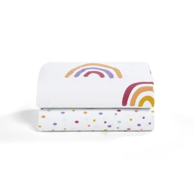 Snüz 2 Lençóis Ajustáveis Berço Colour Rainbow BD028BJ