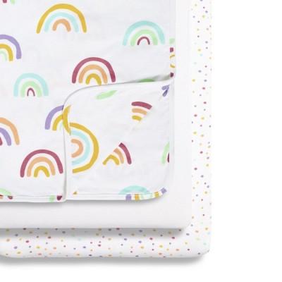 Snüz 2 Lençóis Ajustáveis + Cobertor Berço Colour Rainbow BD028AJ
