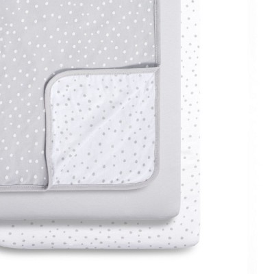 Snüz 2 Lençóis Ajustáveis + Cobertor Berço Grey Spots BD028AG