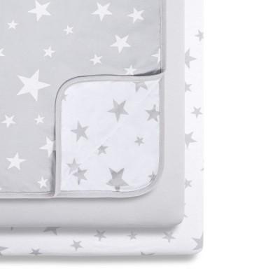 Snüz 2 Lençóis Ajustáveis + Cobertor Berço Grey Stars BD028AB