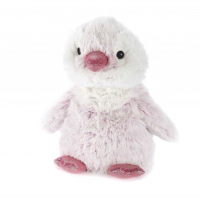 Warmies Plush Pinguim Rosa para Aquecer no Microondas