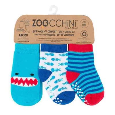 Zoocchini Set 3 Meias Tubarão 0-24M 11801